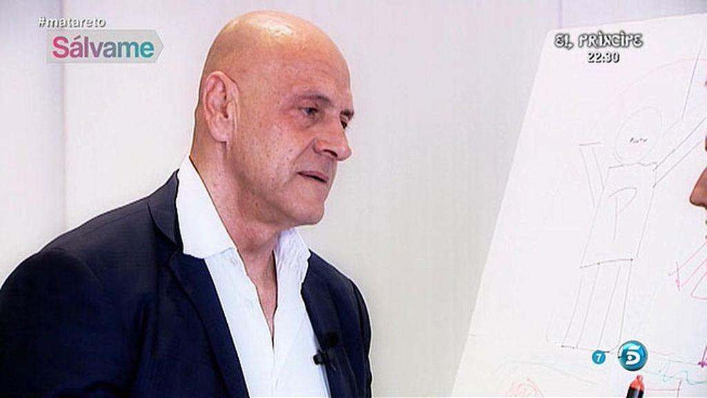 Matamoros se derrumba al hablar de su familia durante la sesión con Cristina Soria