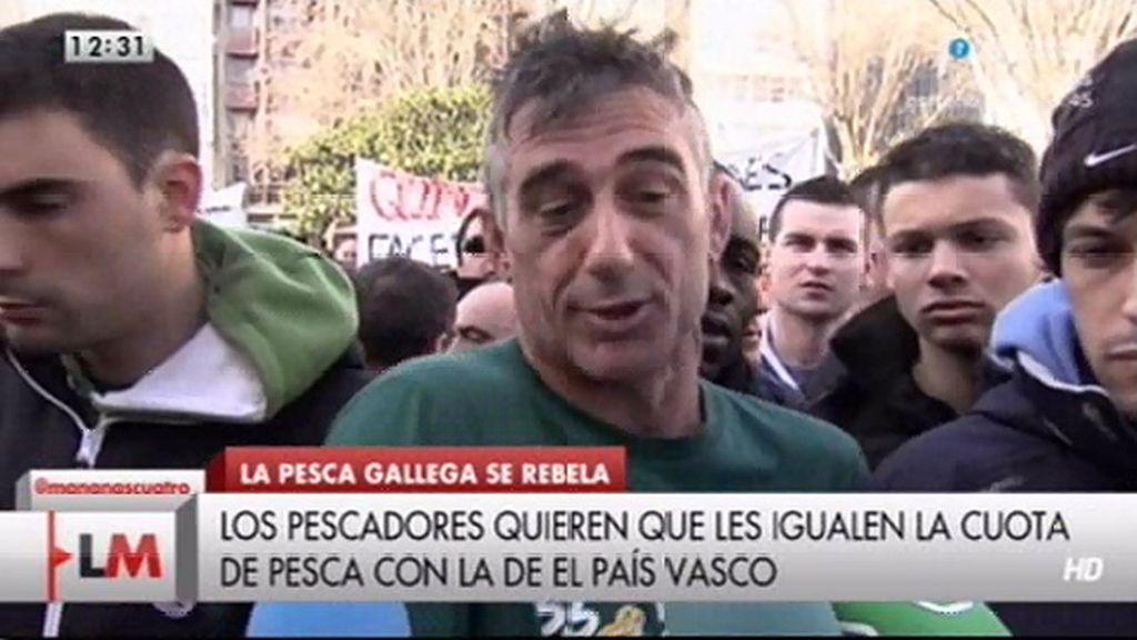 Las protestas de los pescadores gallegos