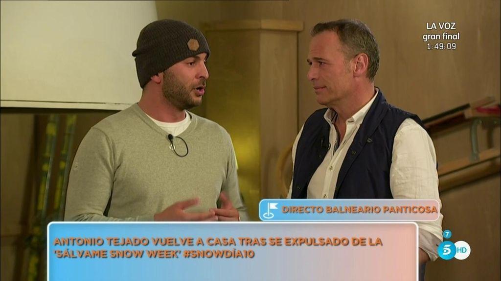 Antonio Tejado vuelve a casa tras ser expulsado de la 'Snow Week'