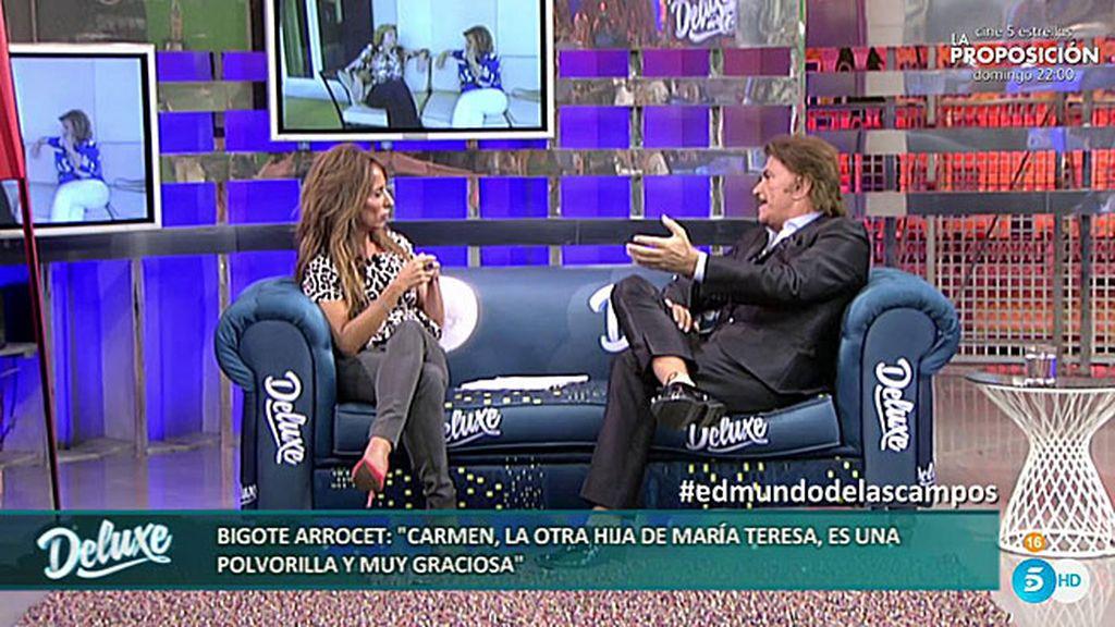 """Edmundo Arrocet: """"Yo no quería trabajar, María Teresa me obligó a hacerlo"""""""