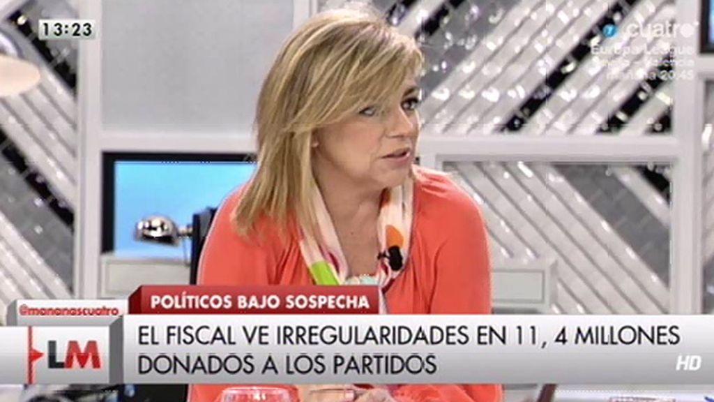 """Elena Valenciano, sobre el PP: """"Han estado dopados por dinero B"""""""