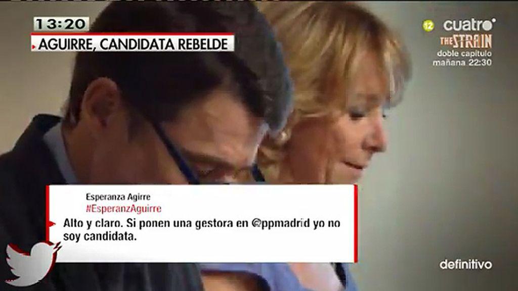 """Aguirre: """"No puedo salir por la puerta de atrás de la presidencia del partido"""""""