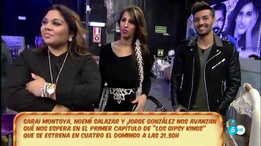 Saray Montoya, Noemí Salazar y Jorge González, en 'Los Gipsy Kings'