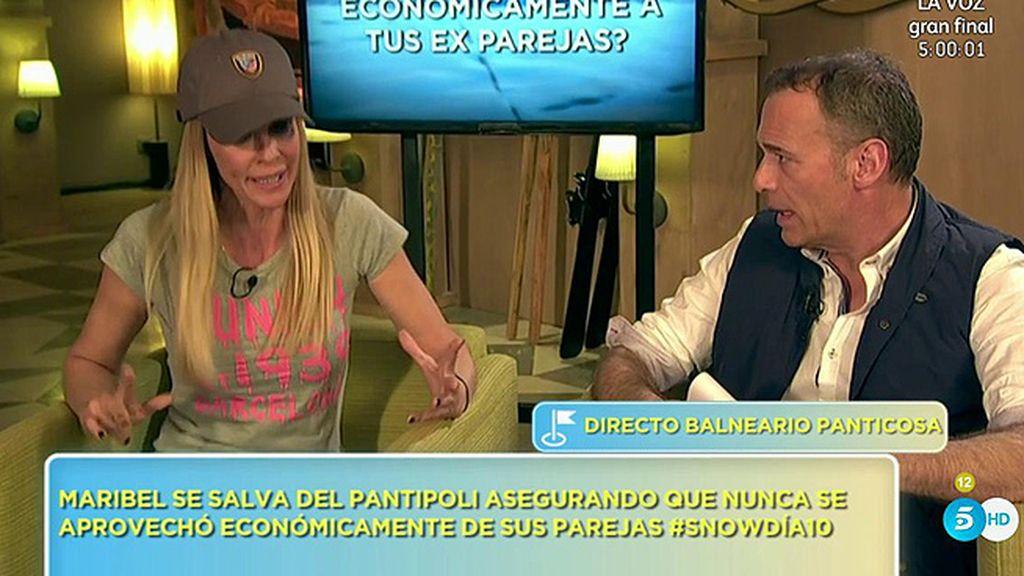 Maribel Sanz no ha explotado económicamente a sus ex, según el 'Poli'
