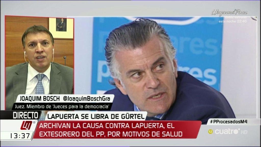 """Joaquim Bosch: """"No es habitual que un perjudicado por un delito se retire del caso"""""""