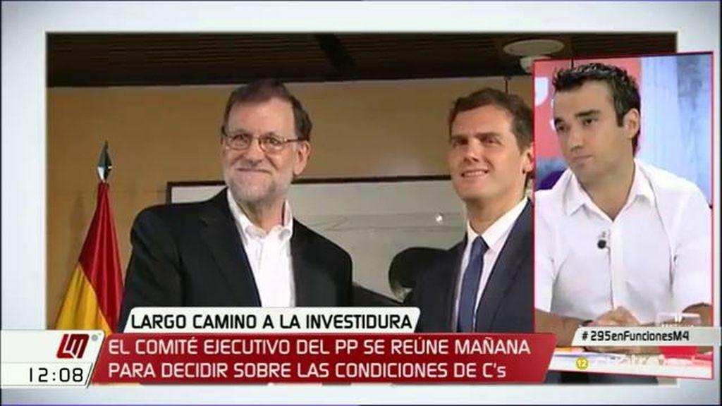 """Pablo Yáñez (Ciudadanos): """"No estamos en el escenario en el que haya que decidir la supervivencia de uno u otro líder"""""""