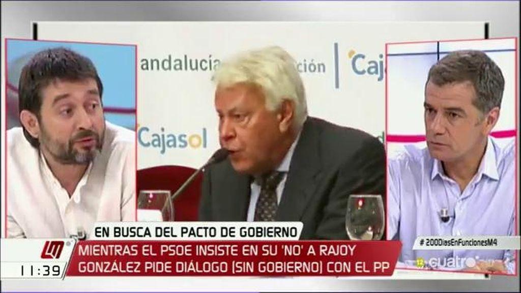 """Rafael Mayoral: """"Felipe González, como buen defensor del austericidio, está buscando la forma de nadar y guardar la ropa"""""""