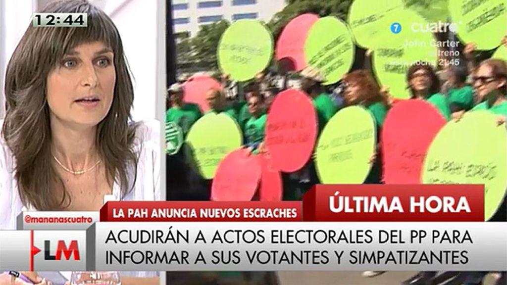 "Bibiana Medialdea, economista: ""Creo que se ha estigmatizado la figura del escrache"""