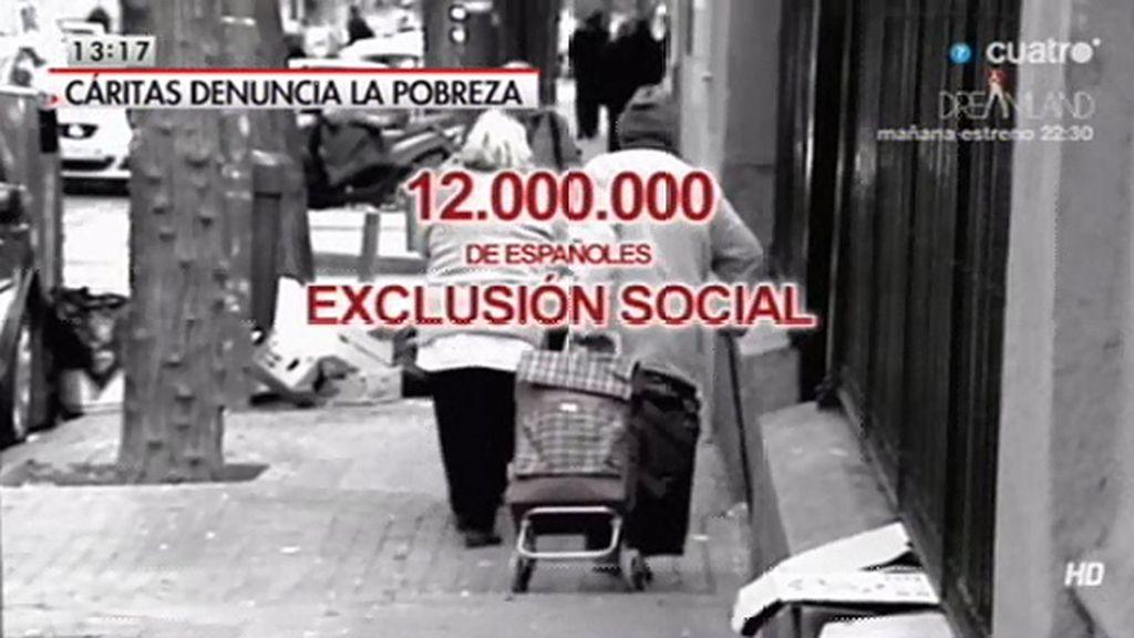 12.000.000 de españoles están en riesgo de exclusión social, según Cáritas