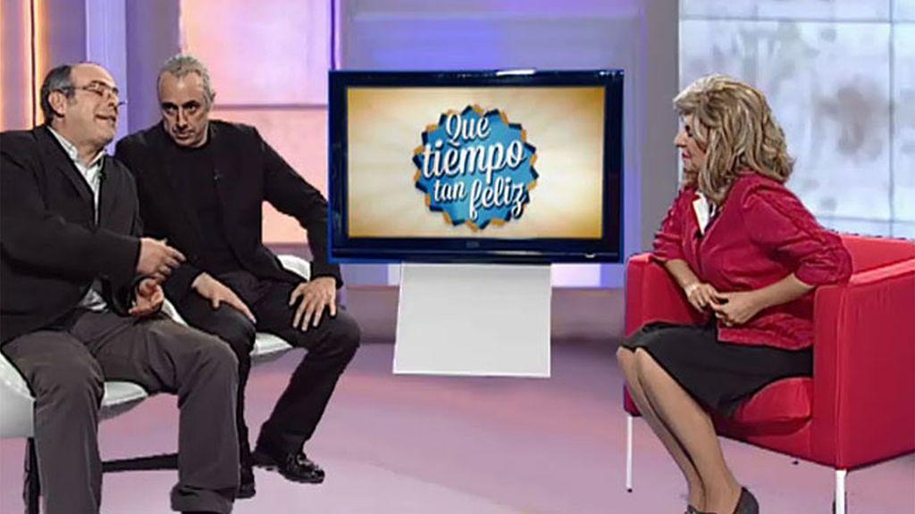 Mª Teresa Campos, con el diputado general de Guipúzcoa y el alcalde de San Sebastian