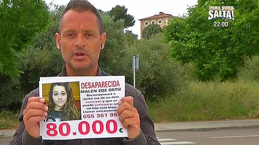 El padre de Malén ofrece 80.000 euros de recompensa a quien le ayude a encontrarla