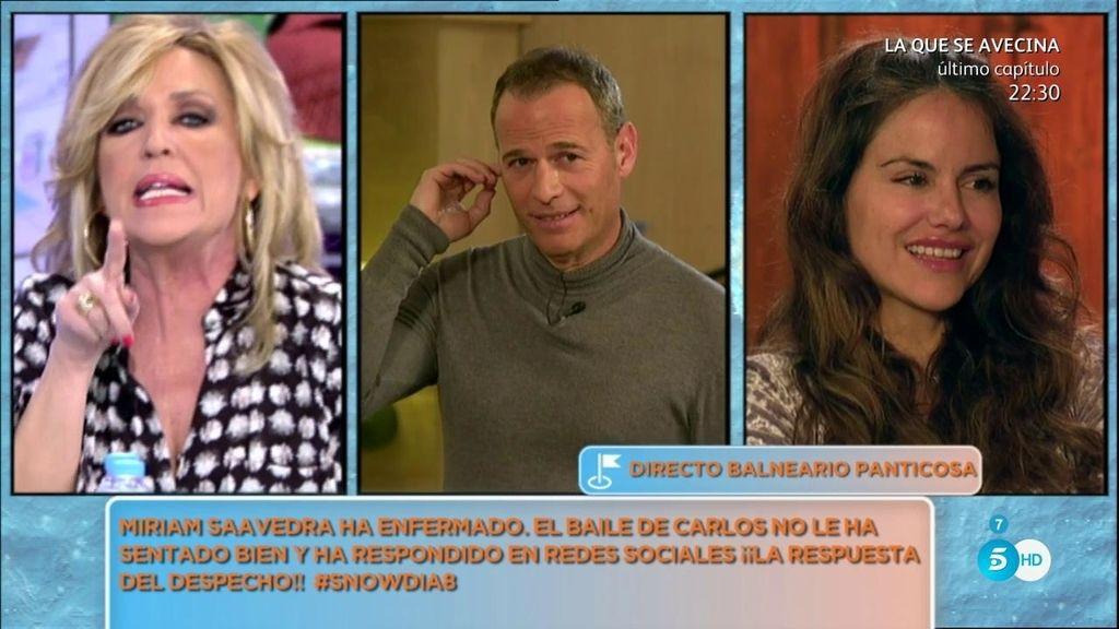 El buen rollo entre Carlos y Mónica Hoyos hace enfermar a Miriam