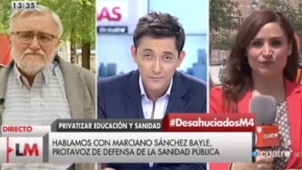 """Dr. Sánchez Bayle, sobre la privatización de la sanidad: """"La sanidad empeoraría y el coste se dispararía"""""""