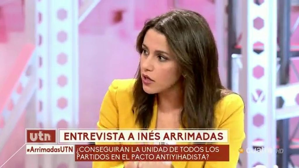 """Inés Arrimadas: """"Los yihadistas no entienden de nuestros procesos electorales"""""""