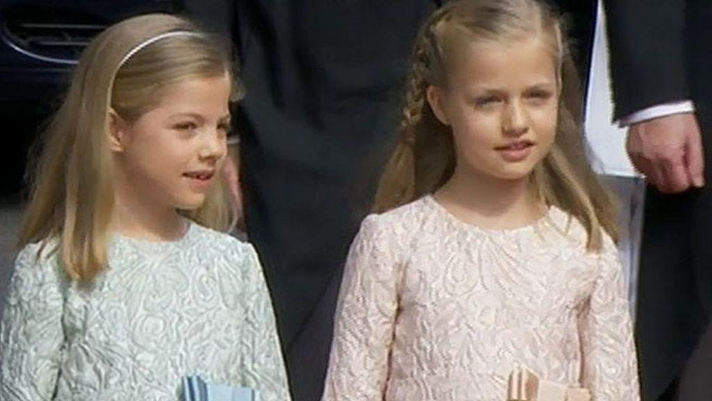 La princesa Leonor y la infanta Sofía, espontáneas y obedientes