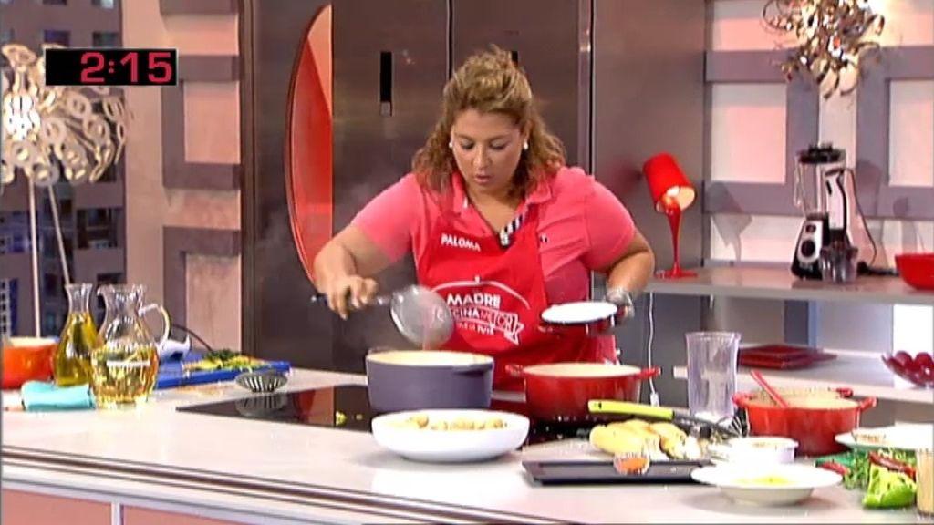 Paloma disfruta de una receta muy canaria con un toque de mojo