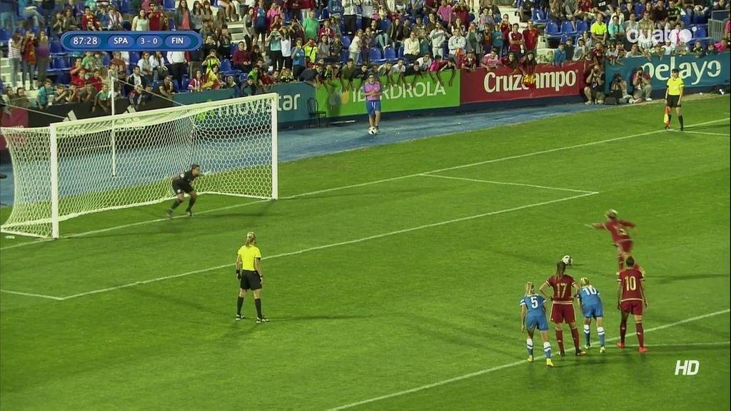 ¡Segundo penalti a favor de España para que Amanda marque el cuarto!