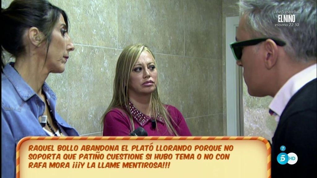 Raquel Bollo se encierra a llorar en un baño después de hablar con María Patiño
