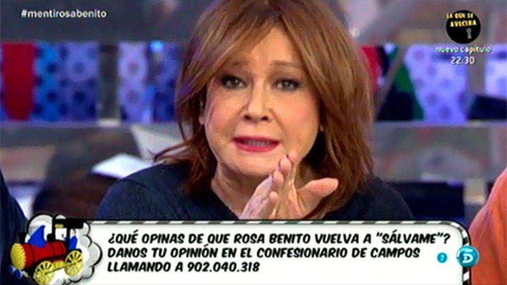 """Mila Ximénez tiene una pregunta para Rosa Benito: """"Dime si callé más que hablé"""""""