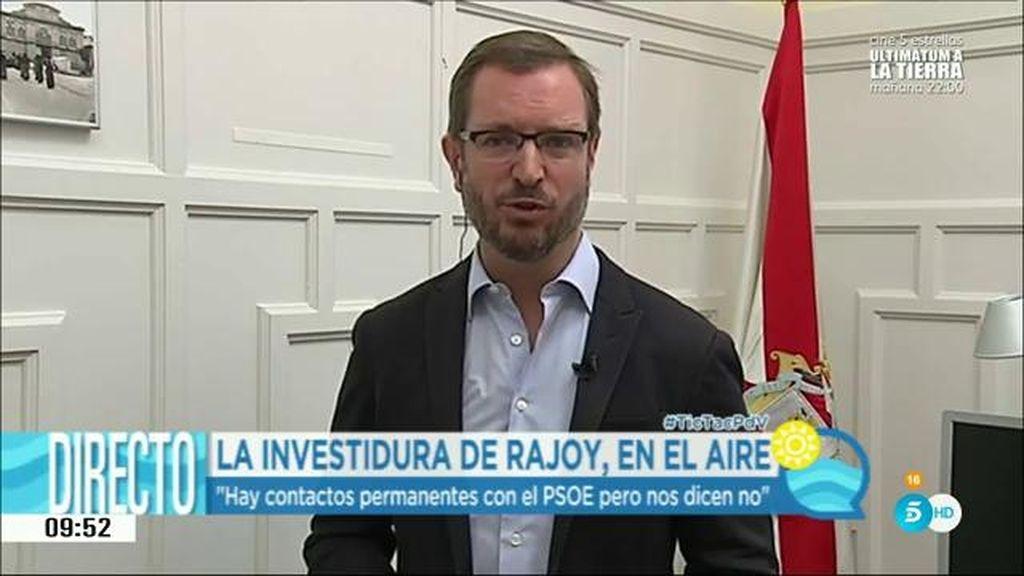 """Javier Maroto: """"El PP está dispuesto a negociar y ceder para que haya Gobierno"""""""