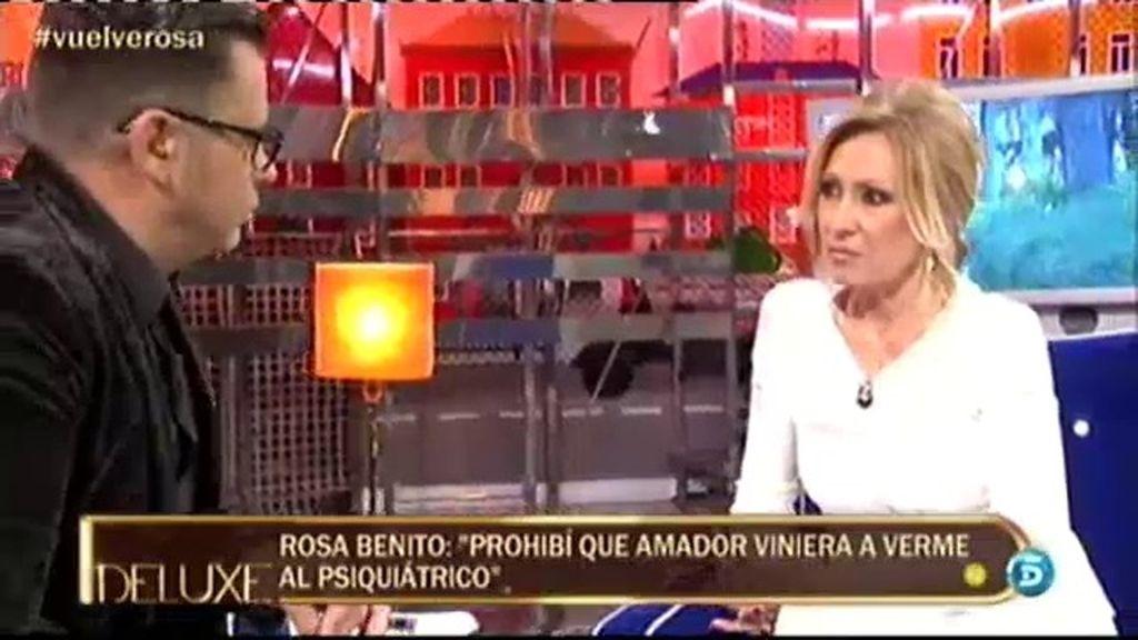 "Rosa Benito: ""Prohibí que Amador viniera a verme al psiquiátrico"""