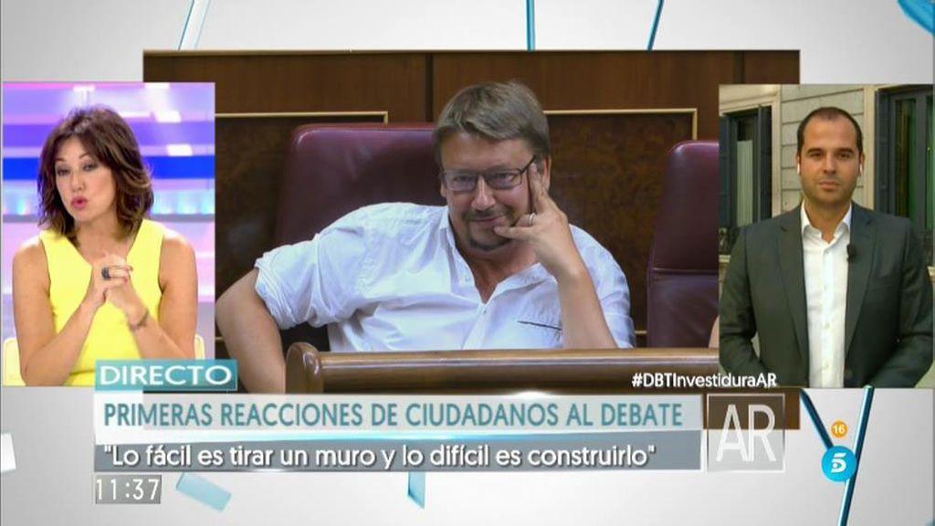 """Aguado: """"PP y PSOE no entienden que  su crítica destructiva nos lleva a las elecciones"""""""