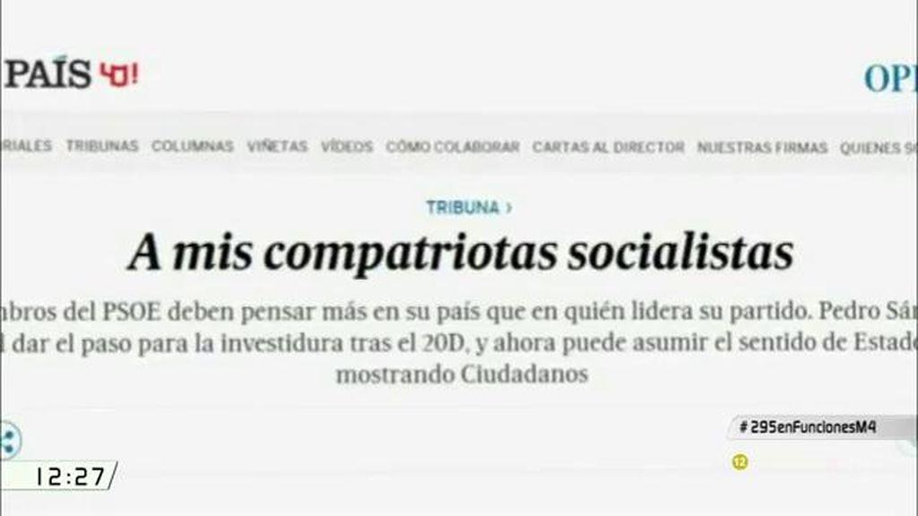 """Albert Rivera, al PSOE: """"Espero que piensen más en nuestro país y menos en quién liderará su partido en un futuro"""""""