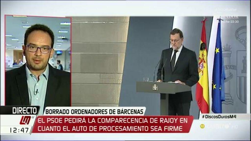 """A. Hernando, diputado socialista: """"Vamos a votar en contra de la investidura de Rajoy"""""""
