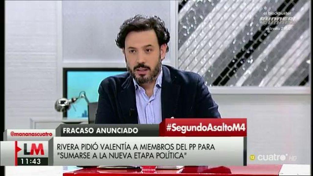 """G. Mariscal: """"Hemos asistido a un ejercicio de supervivencia personal de Pedro Sánchez"""""""