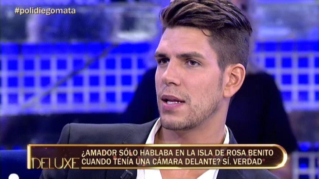 Amador Mohedano solo hablaba de Rosa Benito ante las cámaras de Supervivientes