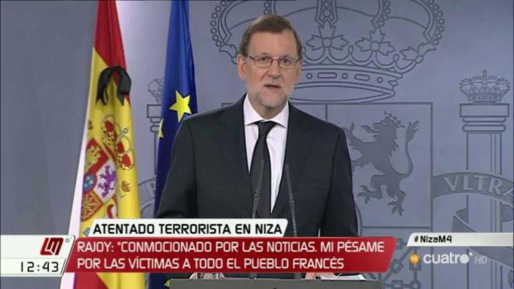 """Rajoy: """"Nuestra determinación está en mantener la intensa colaboración hasta erradicar esta locura criminal"""""""