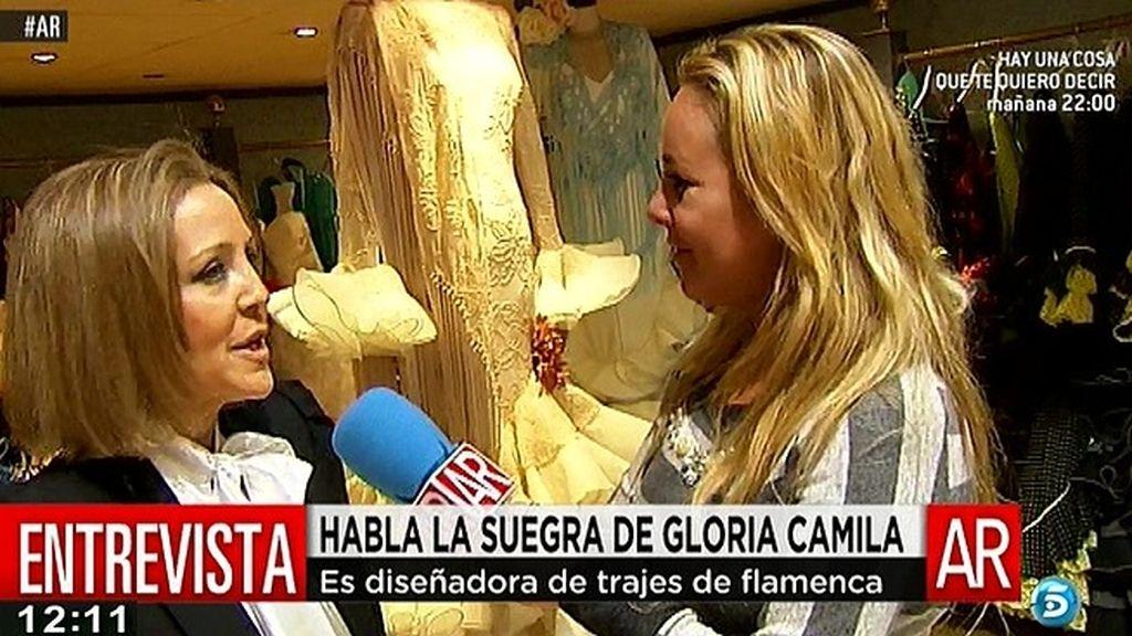 La suegra de Gloria Camila, encantada con ella