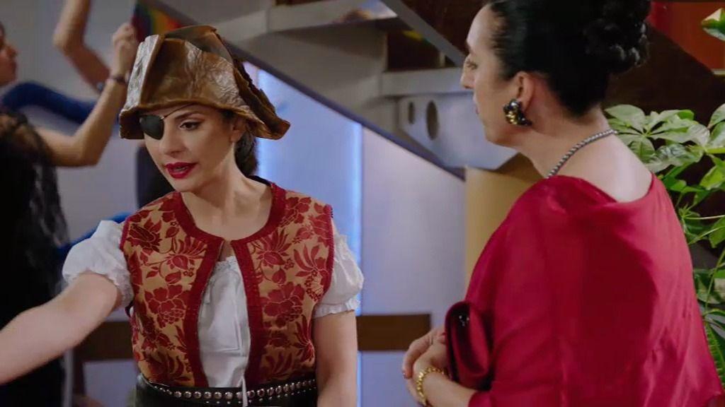 'La parches' se disfraza de Jack Sparrow
