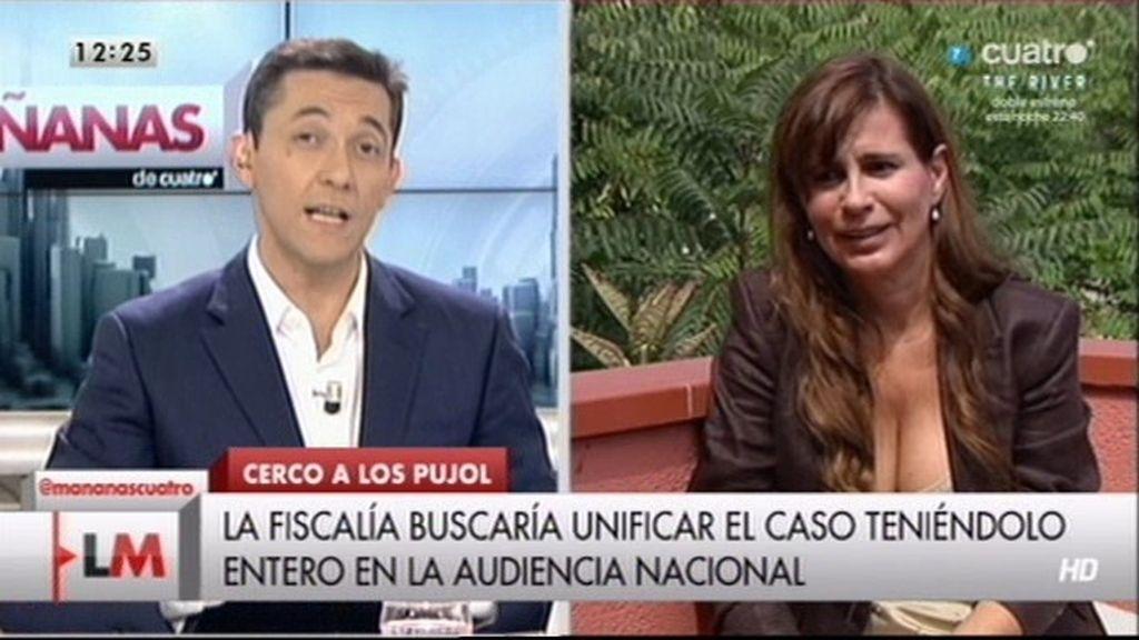 """Victoria Álvarez: """"Es mejor que el caso Pujol se traiga a la Audiencia Nacional de Madrid"""""""