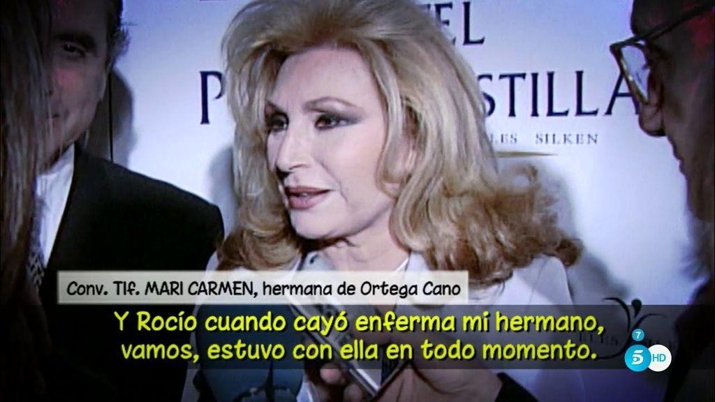 """Conchi, hermana de Ortega Cano: """"Se le caía la baba por Rocío Jurado"""""""