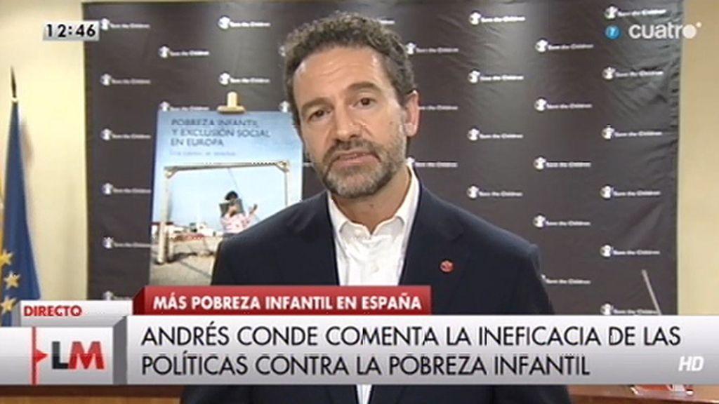 """Andrés Conde: """"La intervención contra la pobreza infantil es algo urgente y necesario"""""""