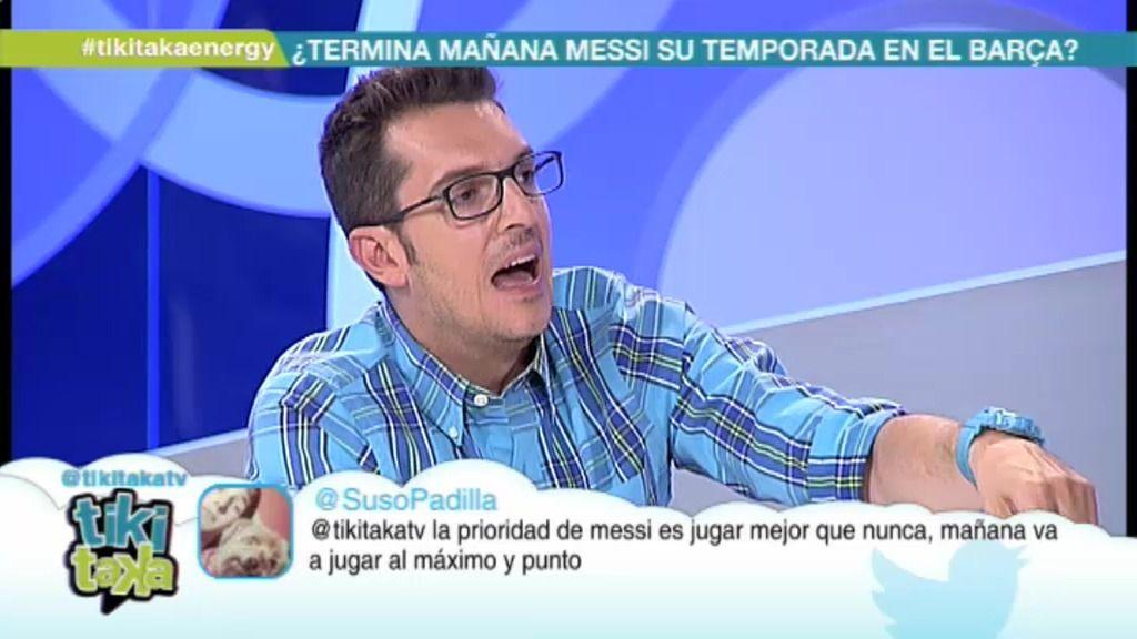 """Látigo Serrano: """"Apuesto que Messi no juega todos los partidos de Liga que quedan"""""""