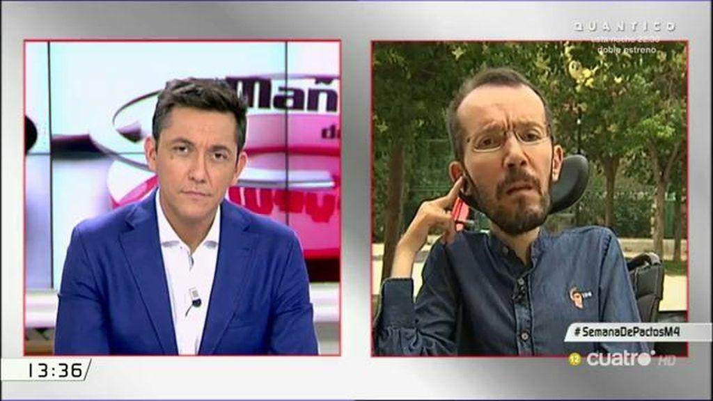 """Echenique, sobre el PSOE: """"Estaríamos dispuestos a hablar, eso sí, le pediríamos que venga con su programa, no con el de C's"""""""