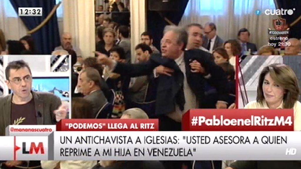 """Juan Carlos Monedero: """"Seguís buscando un flanco para meteros con Podemos"""""""