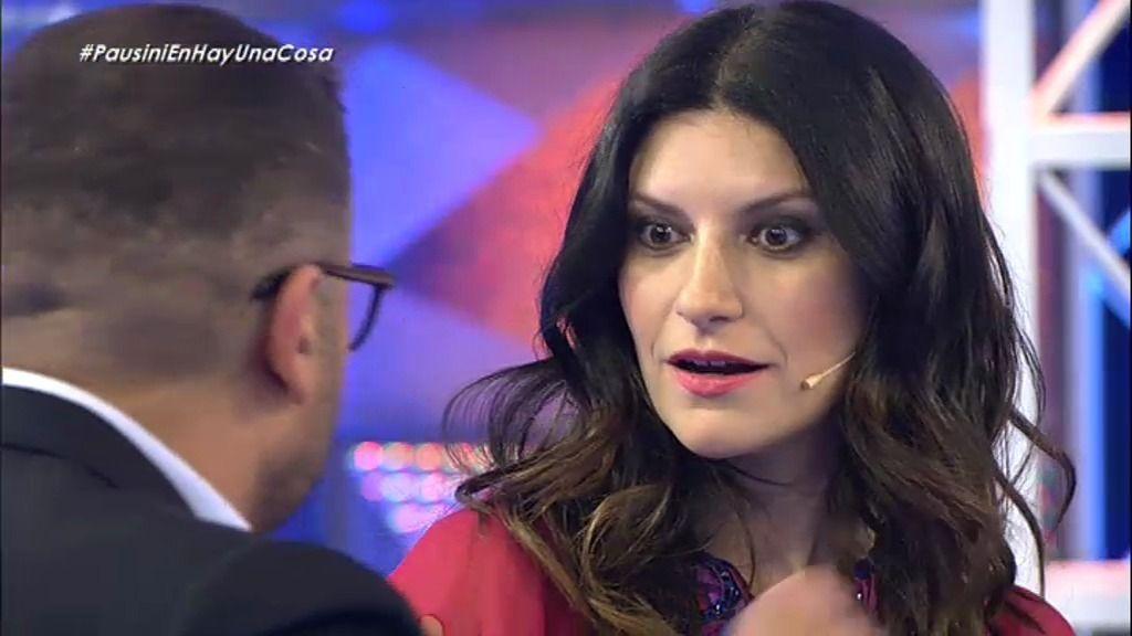 "Jorge Javier le explica a Laura Pausini lo que significa la palabra ""coñazo"""