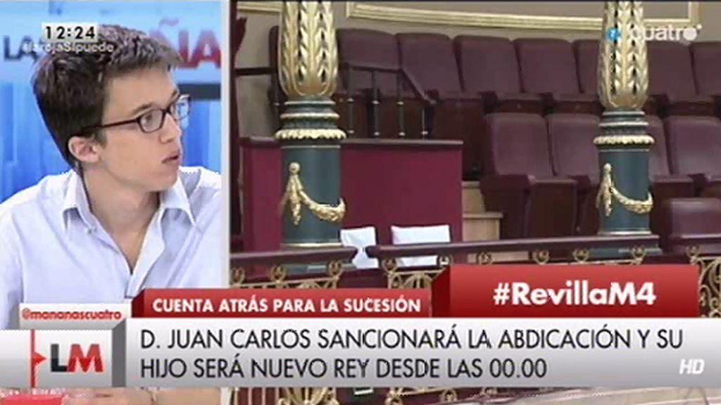 """Íñigo Errejón: """"Este es un país que parece de cómic"""""""