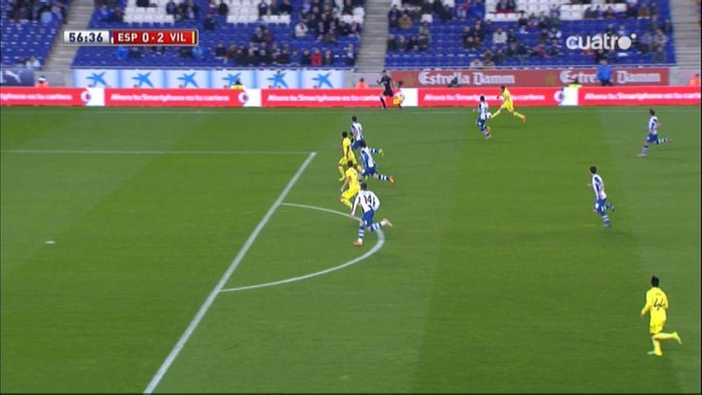 Gol de Perbet (Espanyol 0-2 Villarreal)