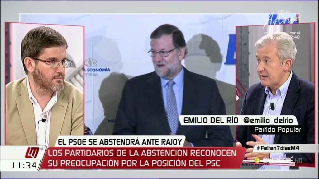 """E. del Río (PP), sobre el PSOE: """"Hay que hacer de la necesidad virtud, por tanto, lleguemos a acuerdos"""""""