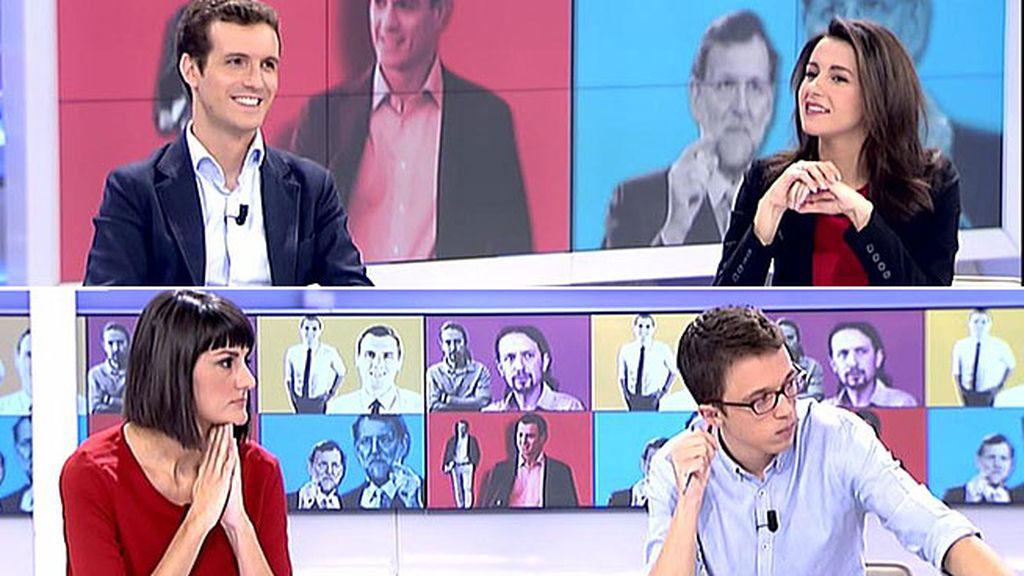 El cara a cara de María González, Íñigo Errejón, Pablo Casado y Arrimadas, íntegro