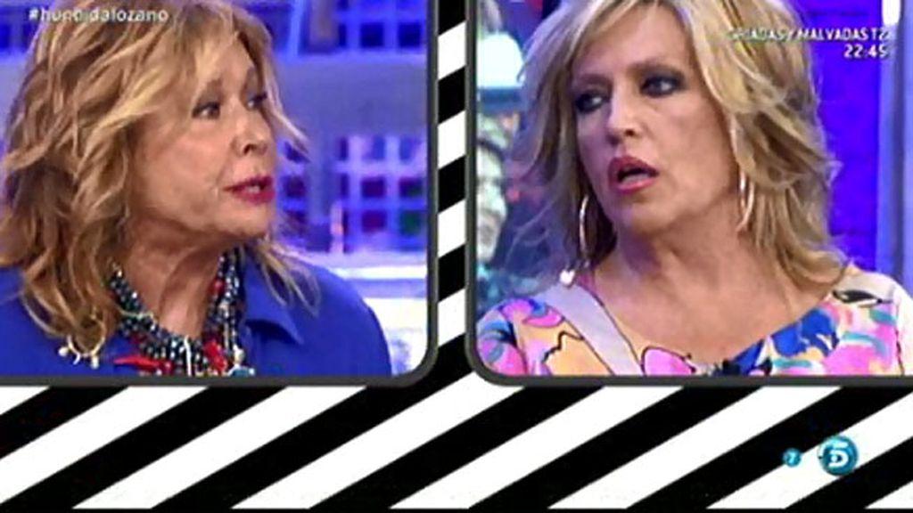 """Mila Ximénez, a Lydia Lozano: """"Tú en la publicidad sí hablas con Jimmy"""""""