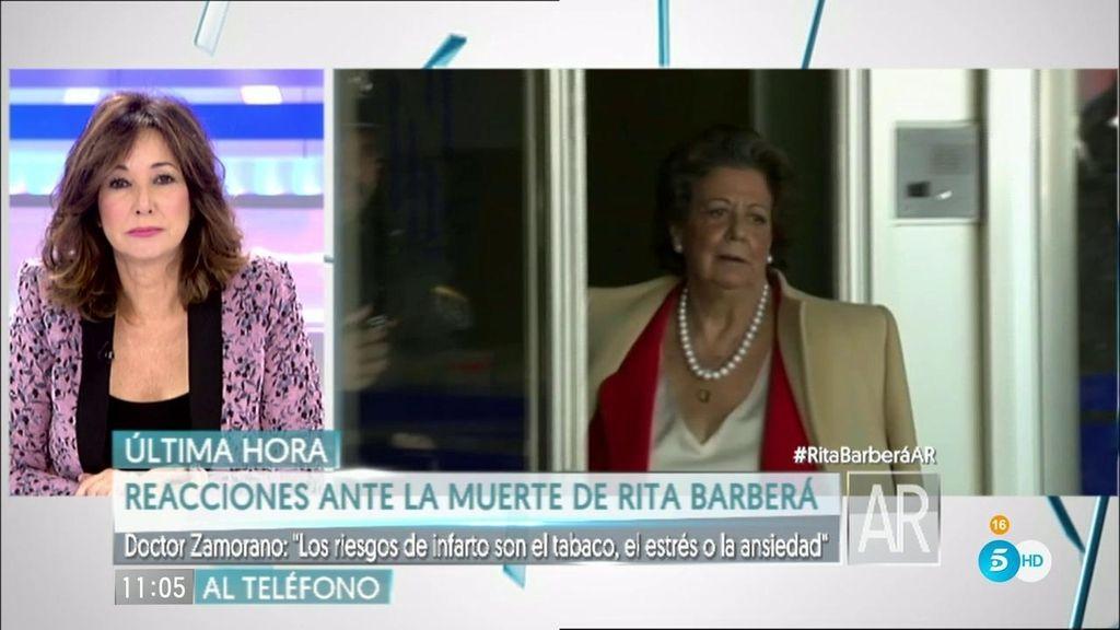 """Dr. Zamorano, tras la muerte de Barberá: """"Estrés y ansiedad son riesgos de infarto"""""""