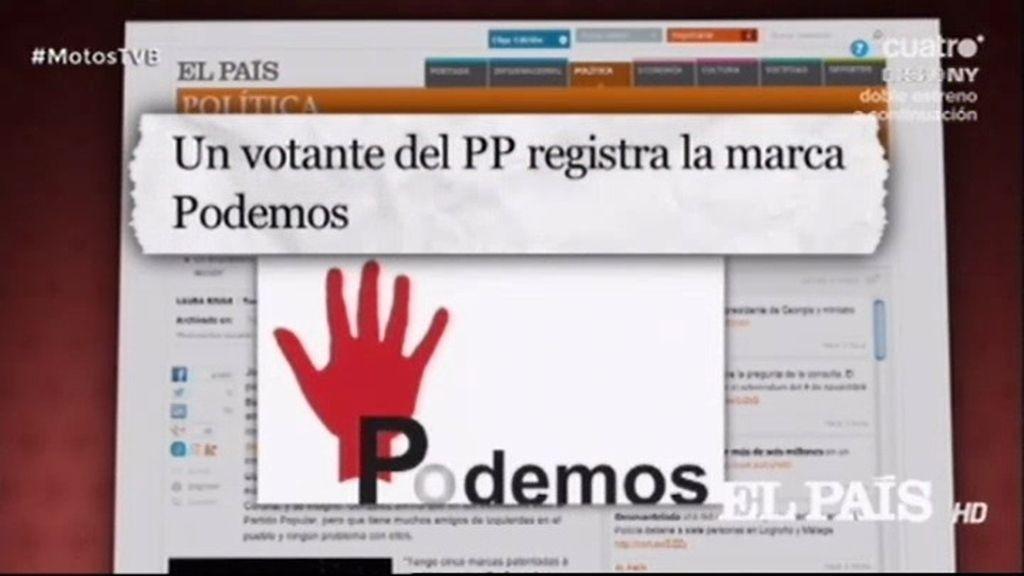 Un votante de PP paga 235 euros para registrar la marca 'Podemos'