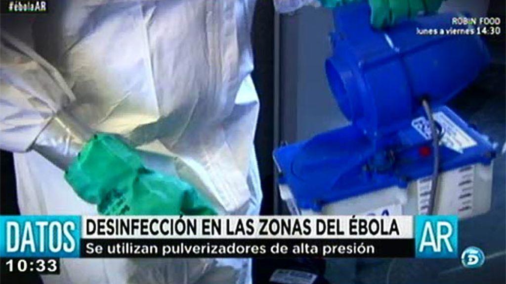 Así se desinfectan las zonas contaminadas por ébola