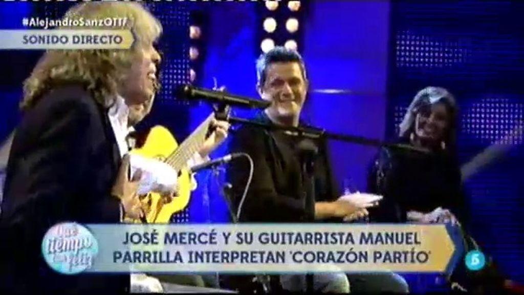José Mercé sorprende a Alejandro Sanz e interpreta 'Corazón partío'