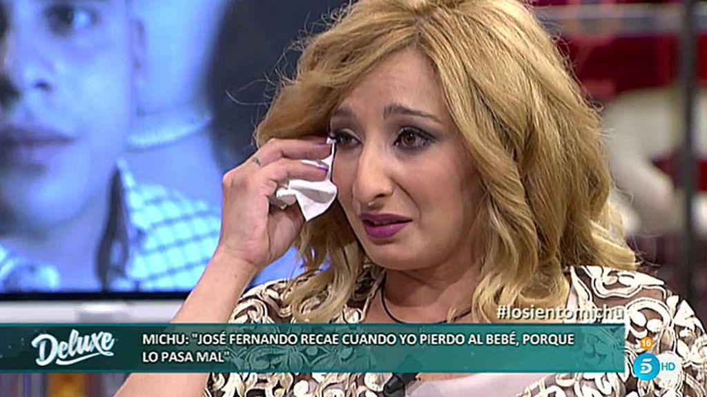"""Michu, rota: """"José Fernando me acusó de haber perdido a nuestro bebé queriendo"""""""
